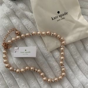 Kate Spade Pearl Rose Gold Necklace